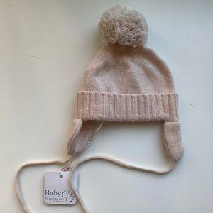 NWT BABY CZ Pink Cashmere Hat 3-6M